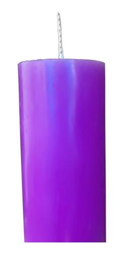 kit 4 velas votivas 7 sete dias colorida lilás