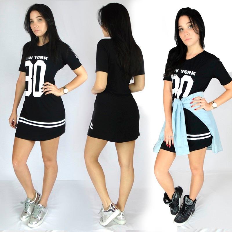 Kings 4 Camisão Ny Feminino 099 Longline Vestido Kit Swag EWD2IH9Y
