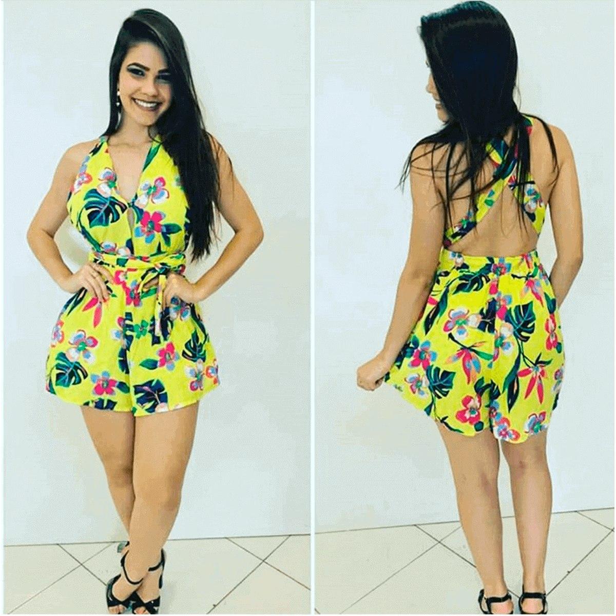 5d240076a kit 4 vestido curto 0 viscose feminino estampado top. Carregando zoom.