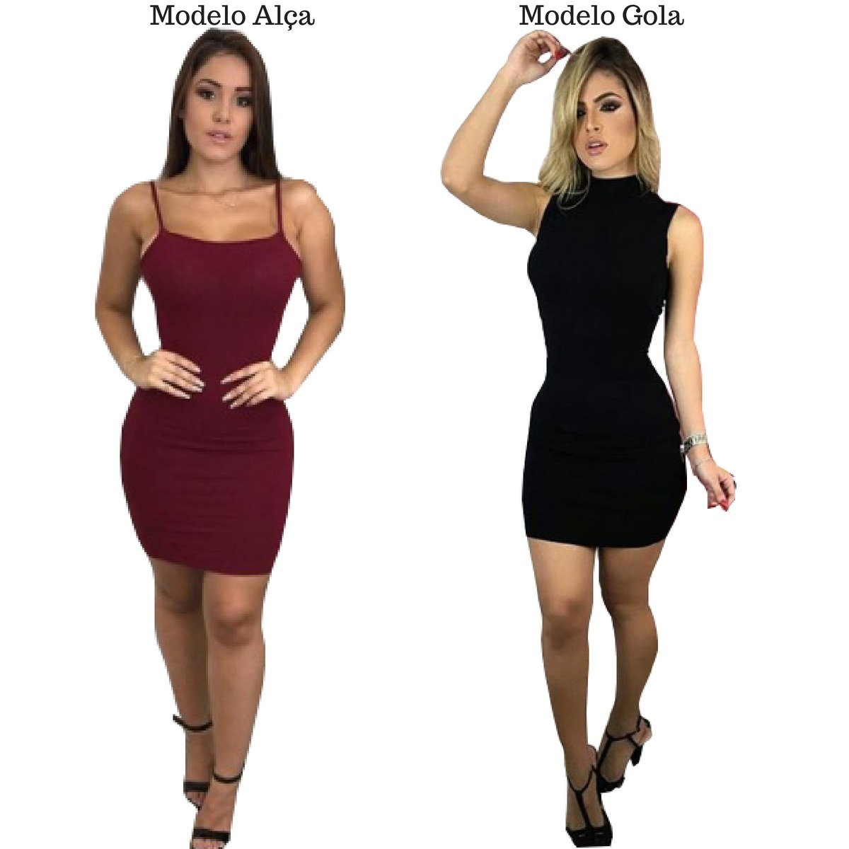 2b85045c6 Kit 4 Vestido Curto Justo Feminino Alça E Gola Oferta 2018 - R$ 120 ...