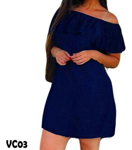 kit 4 vestidos festa jeans curto ciganinha flare babado luxo
