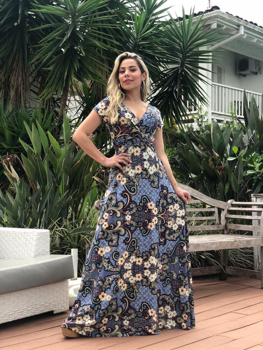 bc7fe0a31 Kit 4 Vestidos Longo Moda Feminina Dia Das Maes Atacado - R  329