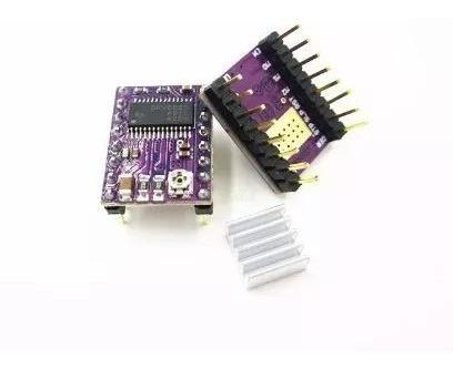 kit 4 x drivers drv8825 c/ dissipador reprap impressora 3d