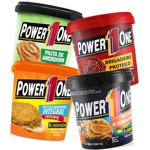 kit 4 x pastas de amendoim - power one - sabores á escolher
