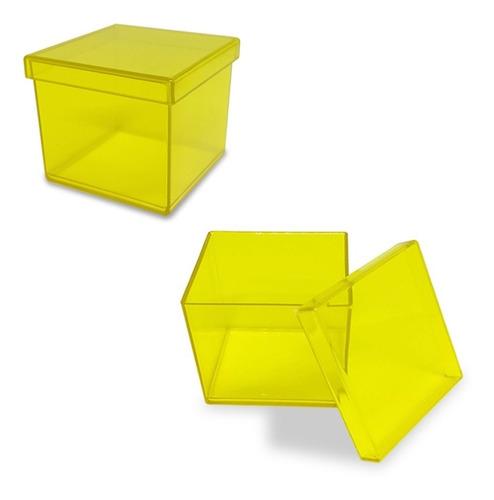 kit 40 caixinha acrílica 5x5cm lembrancinha p/ personalizar