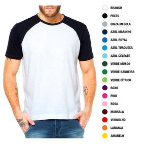 046f6e8723 Raglan 100 Poliester - Camisetas Manga Curta no Mercado Livre Brasil