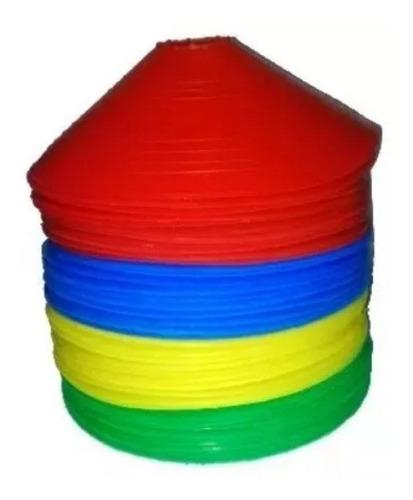 kit 40 conos tortuga entrenamiento flexibles fitness colores