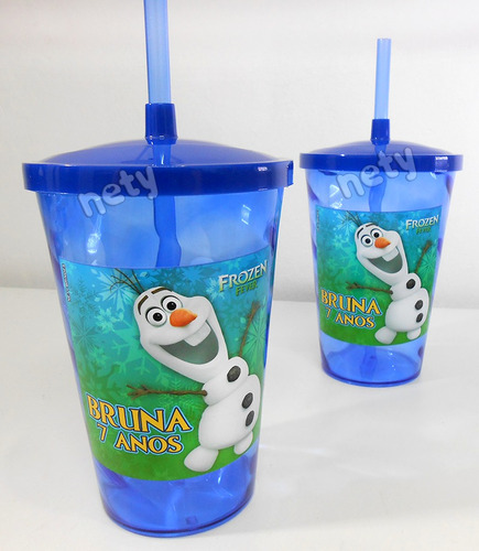 kit 40 copo disney frozen fever lembrança festa aniversário