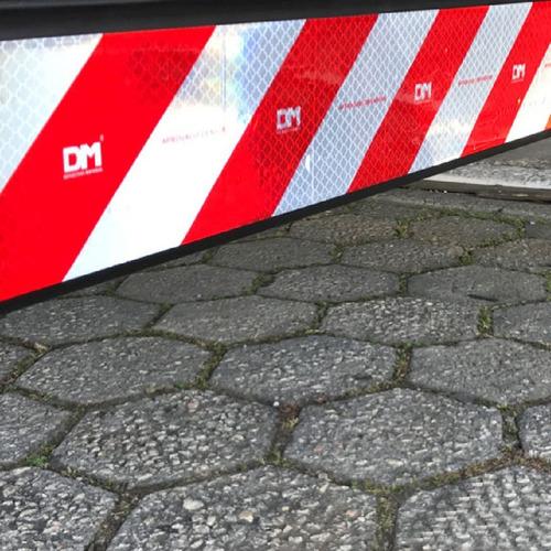 kit 40 faixa refletiva lateral + 2 parachoque dm caminhão 3m