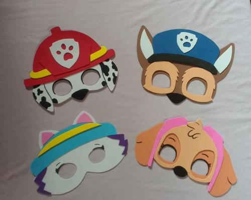 kit 40 máscaras + 40 braceletes patrulha canina eva, festas