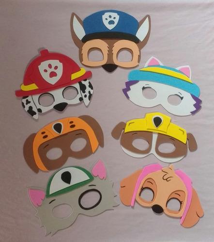 kit 40 máscaras + 40 capas patrulha canina eva, festas