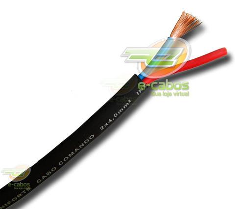 kit 40 metros cabo speaker extra-flexivel p/ caixas 2x4,00mm