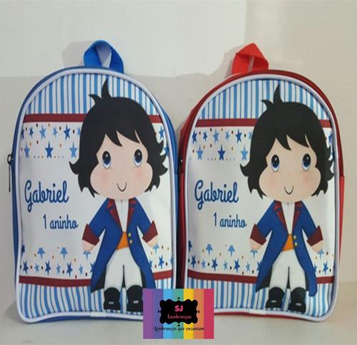 kit 40 mochilas e mochilinhas personalizadas infantil  30x20