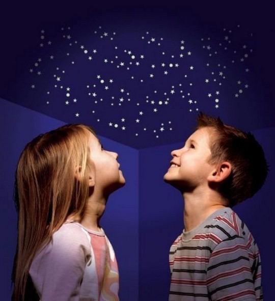 28c454745 Kit 400 Mini Estrelas Que Brilham No Escuro + Lua + Cometas - R  44 ...