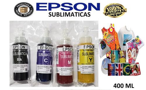 kit 400 ml tintas sublimaticas l395 l380 l220 l375 l120