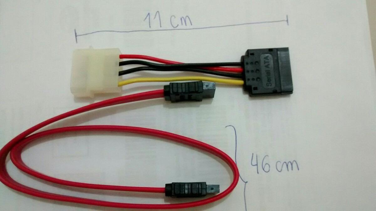Kit 40un Cabo Fora Adaptador Fonte Molex Sata Dados R 490 To Wiring Diagram Carregando Zoom