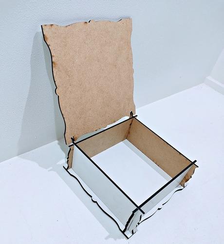 kit 45 caixas casamento lembrancinha brasão mdf - 12x12x5