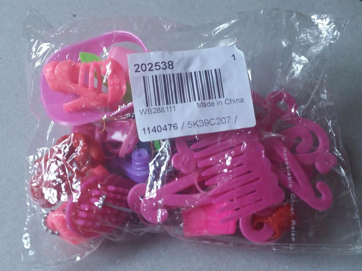 171140fa9 Kit 46 Pçs Acessórios Barbie Sapato Bolsa Tiara Colar Etc - R$ 49,90 ...