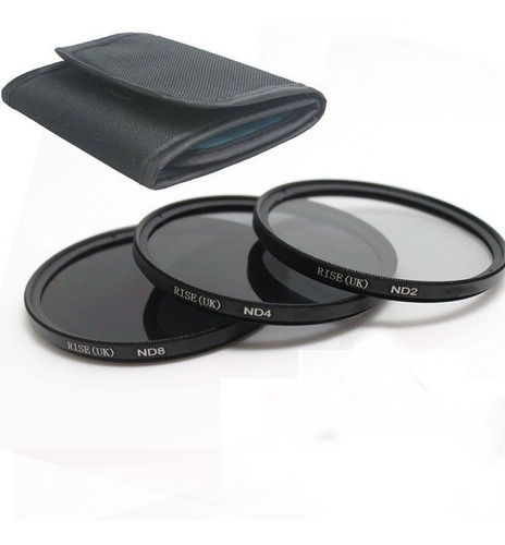 kit 49mm filtro uv cpl fld nd2 nd4 nd8 p/ 50mm canon parasol