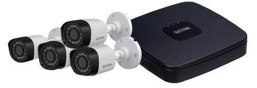 kit 4ch hdcvi/saxxon-vga/ hdmi/ddns/4camaras 720p