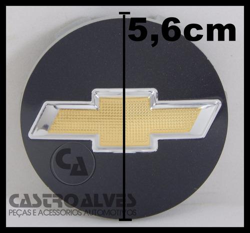 kit 4pçs calota tampa esportiva scorro gm preto 5,6cm   56mm
