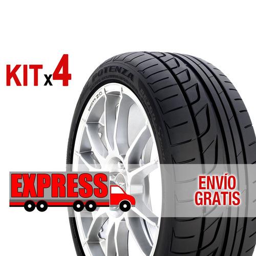 kit 4u 215/60 r16 v potenza re760 bridgestone + envío gratis