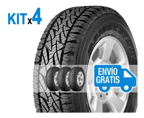 kit 4u 235/70 r16 t bridgestone dueler at696 revo + envío $0