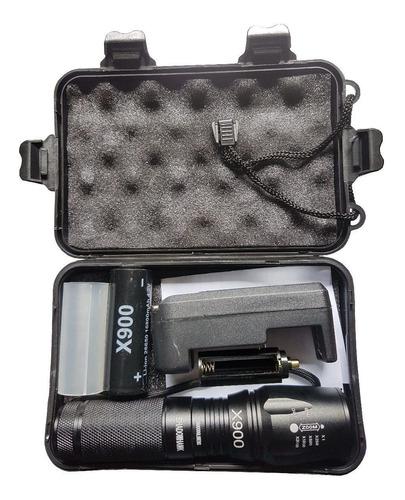 kit 4un lanterna tática militar x900 legitima lançamento