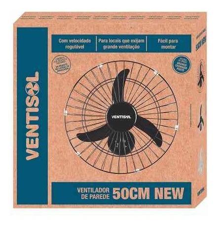 kit 4un ventilador oscilante de parede 50cm grade preto