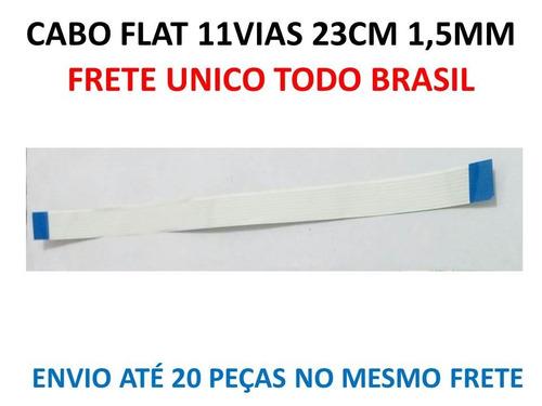 kit 4x cabo flat 11vias 23cm 1,25mm normal (12mm de largura)