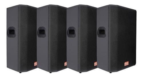 kit 4x caixas passivas somplus 15 polegadas 200w sp152vias
