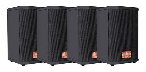 kit 4x caixas passivas somplus 6 polegadas 150w sp062vias