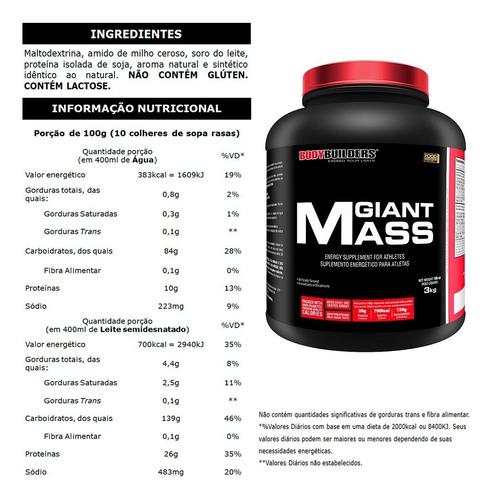 kit 4x giant mass 3kg - total 12kg