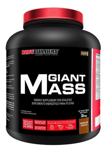 kit 4x hipercalórico giant mass 3kg