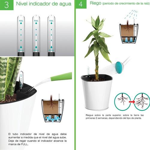 kit 4x maceta autorregable ovalada oc1816 smart garden