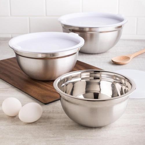 kit 4x recipiente bowl inox p/ uso culinário cozinha casa