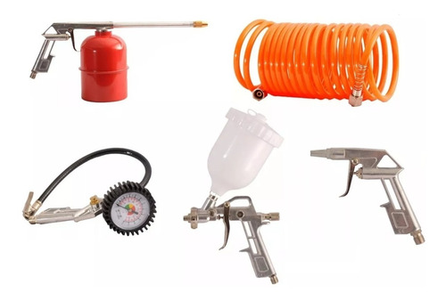 kit 5 accesorios aire compresor neumatica miyawa zona norte