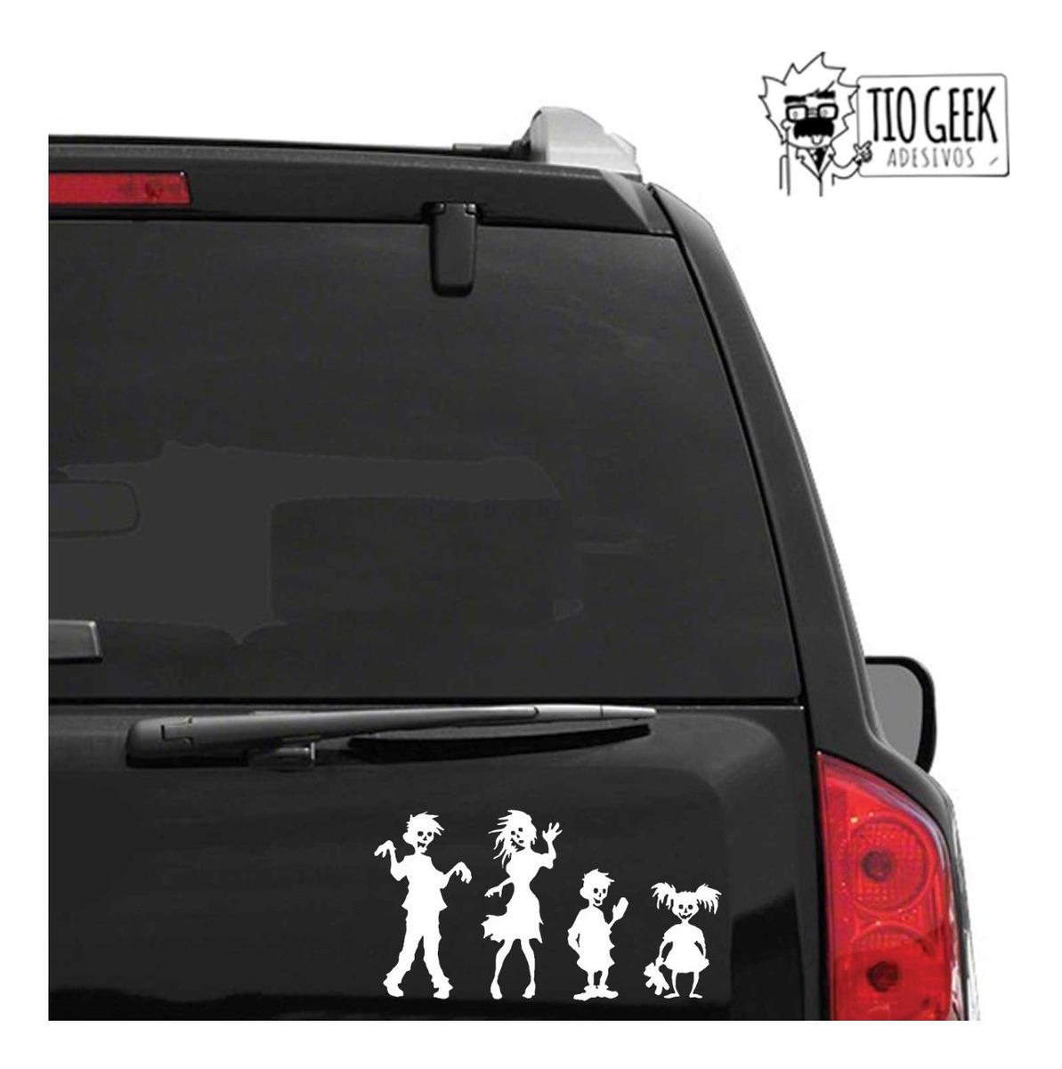 faa3032cfe Kit 5 Adesivos Família Feliz Zumbi - Carro Walking Dead - R$ 23,00 ...