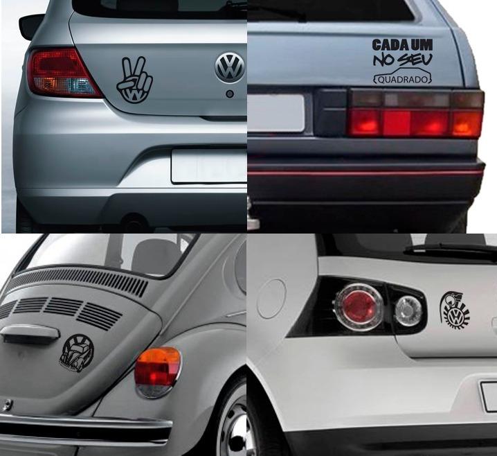 Kit 5 Adesivos Volkswagen Vw Gol Quadrado Golf Rebaixado R 24