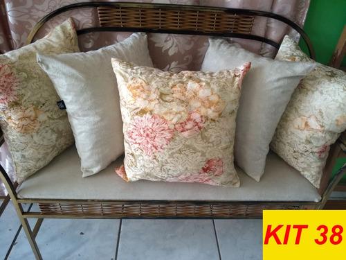 kit 5 almofadas decorativas cheias estampadas envio rápido