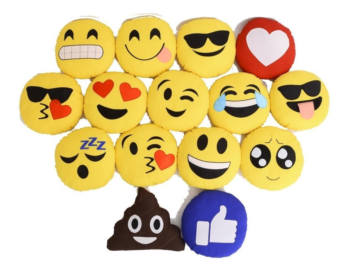 0822f1ce2ea62e Kit 5 Almofadas Emoticon Zapzap Watts App Emoji 32cm Bordado