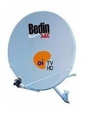 kit 5 antenas 60 cm  oi tv sem lnb sem fios