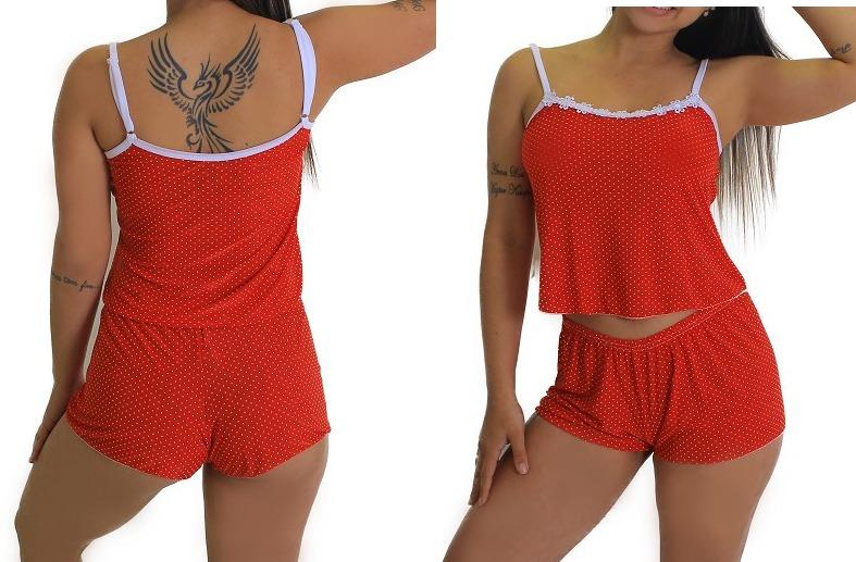6faaede00 Kit 5 Baby Doll Short Doll Pijama Sacoleira Revenda Atacado - R  49 ...