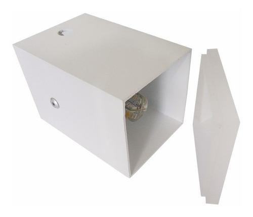 kit 5 balizador parede embutir escada quadrado 50x50mm