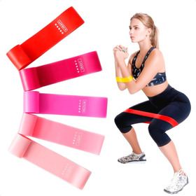 Kit 5 Bandas Elasticas Resistencia Poder Entrenamiento Gym