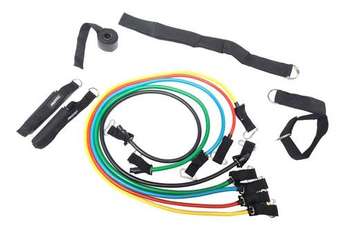 kit 5 bandas funcionales elasticas anclaje puerta manijas