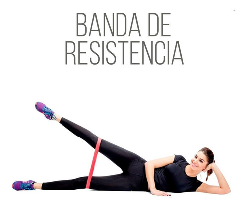 kit 5 bandas ligas resistencia ejercicio fisioterapia yoga