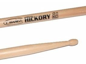 kit 5 baqueta c. ibanez american hickory 5a ponta madeira