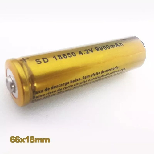 kit 5 bateria recarregável 8800mah profissional 18650 4.2v