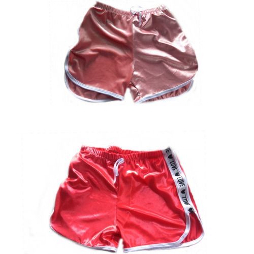 kit 5 bermuda short veludo feminina fitness atacado love